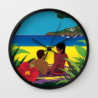 A Shaded Beach Wall Clock