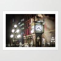 Steam Clock  Art Print