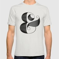 Ampersand Mens Fitted Tee Silver SMALL