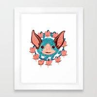 Vampire Bat Framed Art Print