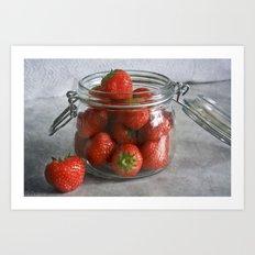 Berry Strawberries Art Print