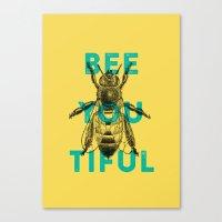 Bee-you-tiful Canvas Print