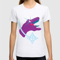 T-Rex Burst Womens Fitted Tee Ash Grey SMALL