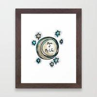 Moon of My Life - Khal and Khaleesi Framed Art Print