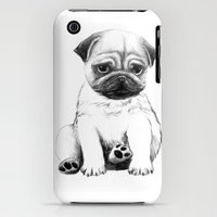 iPhone 3Gs & iPhone 3G Cases featuring POOR CUTE PUG by Annie0710