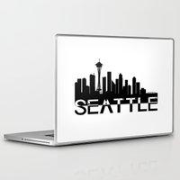 seattle Laptop & iPad Skins featuring Seattle by Allison Kiloh