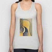 Martin Accoustic Guitar  new proportion Unisex Tank Top
