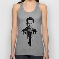 Avengers in Ink: Iron Man Unisex Tank Top