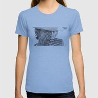 Charles Womens Fitted Tee Athletic Blue LARGE
