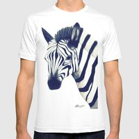 Zeeebra Mens Fitted Tee White SMALL