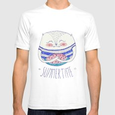 summertime cat Mens Fitted Tee White SMALL