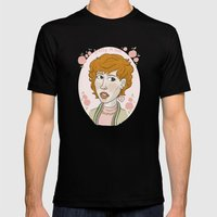 Pretty in Pink Portrait. Mens Fitted Tee Black SMALL