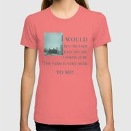 The Farm Womens Fitted Tee Pomegranate SMALL