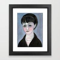 Dorothy Parker Literary Portrait Framed Art Print