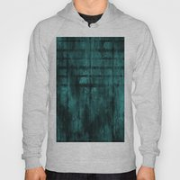 Turquoise Lined Rusted Metal Look Hoody