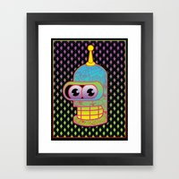 Mr. Shiny Metal  Framed Art Print