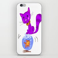 Cat On Lunch iPhone & iPod Skin