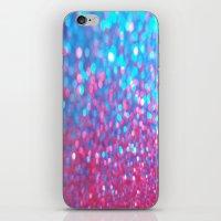 Sky Blue Pink Sparkle Glitter Gradient iPhone & iPod Skin