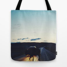 Bison in the Headlights Tote Bag