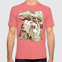 Intersectional Nature Mens Fitted Tee Pomegranate SMALL