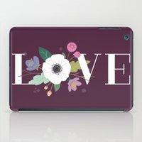 Floral Love - in Plum iPad Case