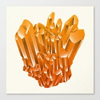Orange Formation Canvas Print