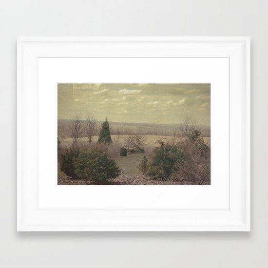 The Seconds Slipped Away Framed Art Print
