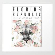 Florida Republic Floral Art Print