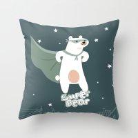 superbear Throw Pillow