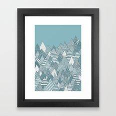Winterly Forest Framed Art Print