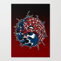 venom yin yang Canvas Print