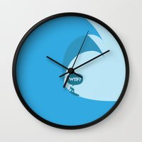 WTF? Surf! Wall Clock