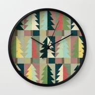Christmas Trees Wall Clock