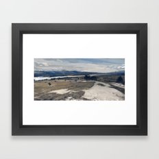 another day at work, wilderness Framed Art Print