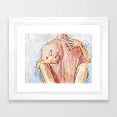 Shower Sex Framed Art Print