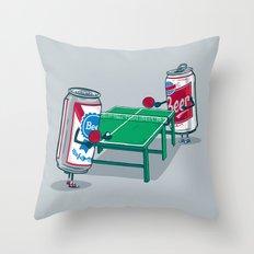 Beer Pong Throw Pillow