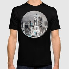 Goodnight, Everybody! SMALL Black Mens Fitted Tee