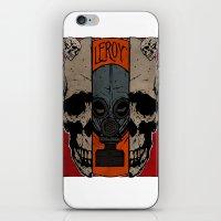 Split Skull iPhone & iPod Skin
