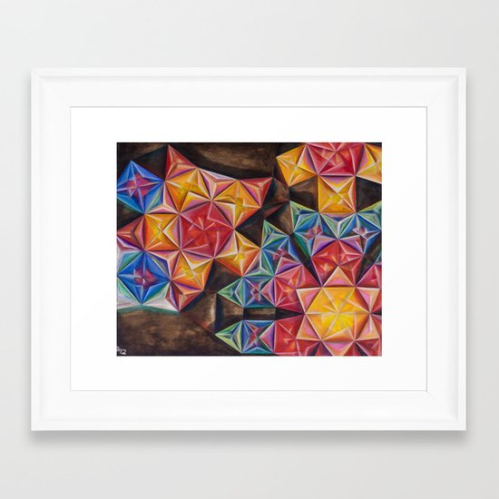 Shape Emanation Framed Art Print