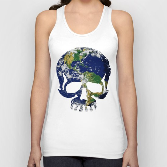 Skull Earth Unisex Tank Top