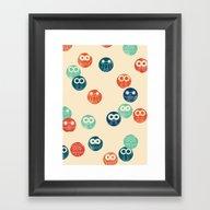 Owl Spots Framed Art Print