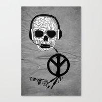 Love' Skull -  A Collabo… Canvas Print