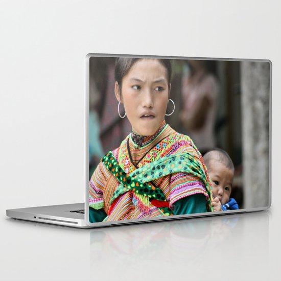 Village Woman Laptop & iPad Skin