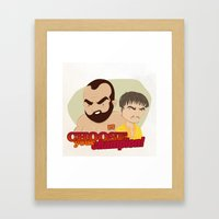 Trial by combat Framed Art Print
