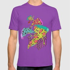Pizza Eating Pizza - Blue Edition Mens Fitted Tee Ultraviolet SMALL