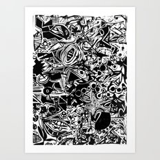 Black/White #1 Art Print