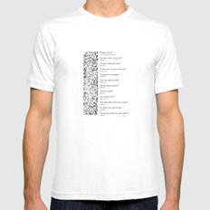 Words Words Words - William Shakespeare Quotations print SMALL Mens Fitted Tee White