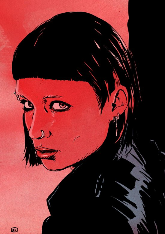 Lisbeth Salander Mara Rooney Art Print