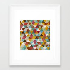 Triangles Circus Oil 2 Framed Art Print