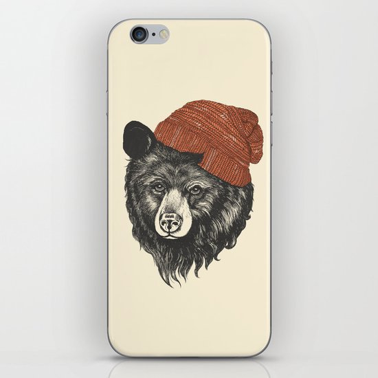 zissou the bear iPhone & iPod Skin